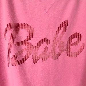 Beach Riot Sweaters - Beach Riot Pink Babe Sweatshirt